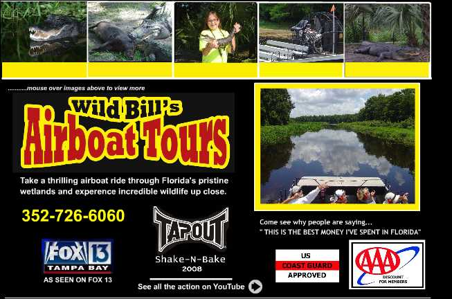 Wild Bills Airboat Tours Ocala Orlando Crystal River
